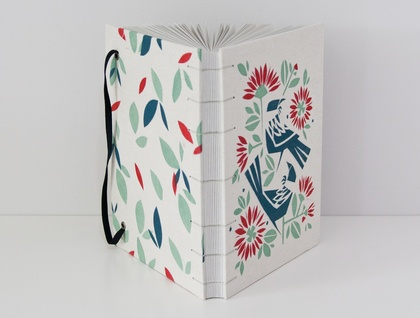 Tui and Pohutukawa Journal with Eco Friendly Paper. Limited Edition.