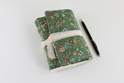 Green Floral Travel Diary