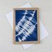 Hand Dyed Shibori Fabric Greeting Card