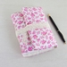 Pink Floral Fabric Journal