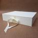 White Keepsake Box / Photo Box (Flush edge)