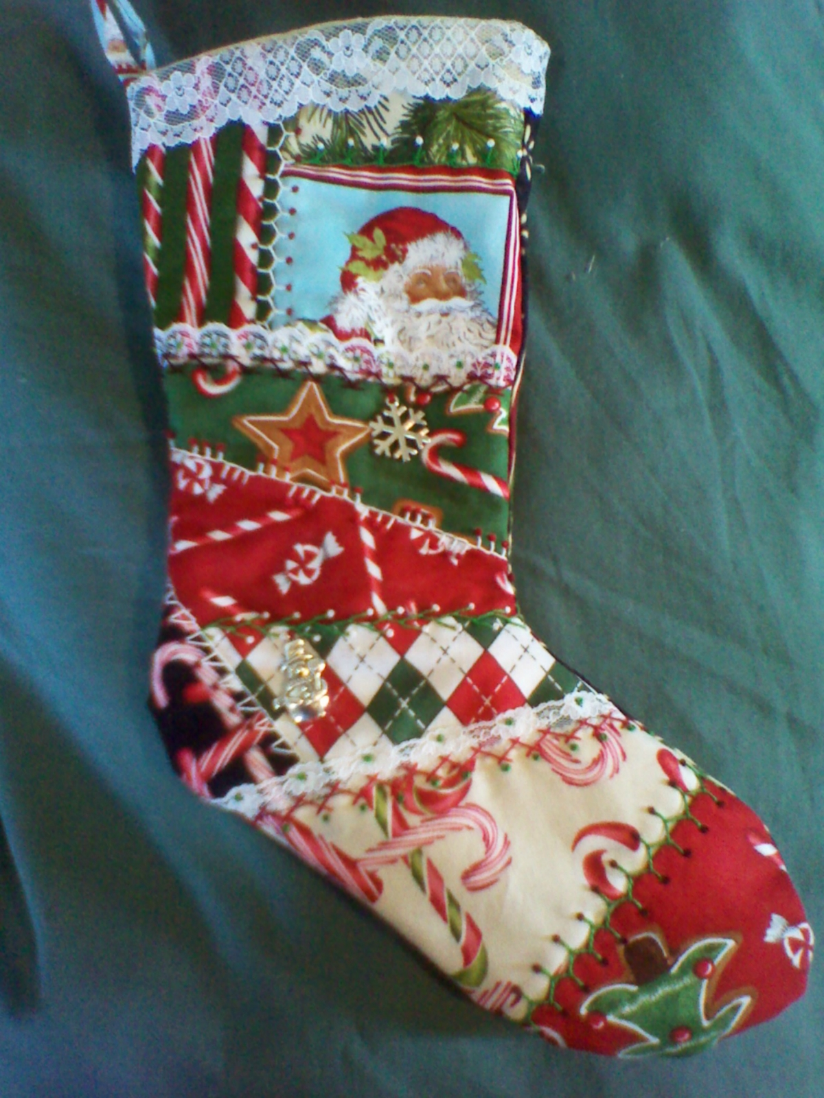 embroidered christmas stockings embroidered patchwork felt 29038