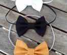 Three baby bow headbands - Small sized bows (5cm)