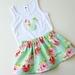 Green Floral Skirt Set Size 1