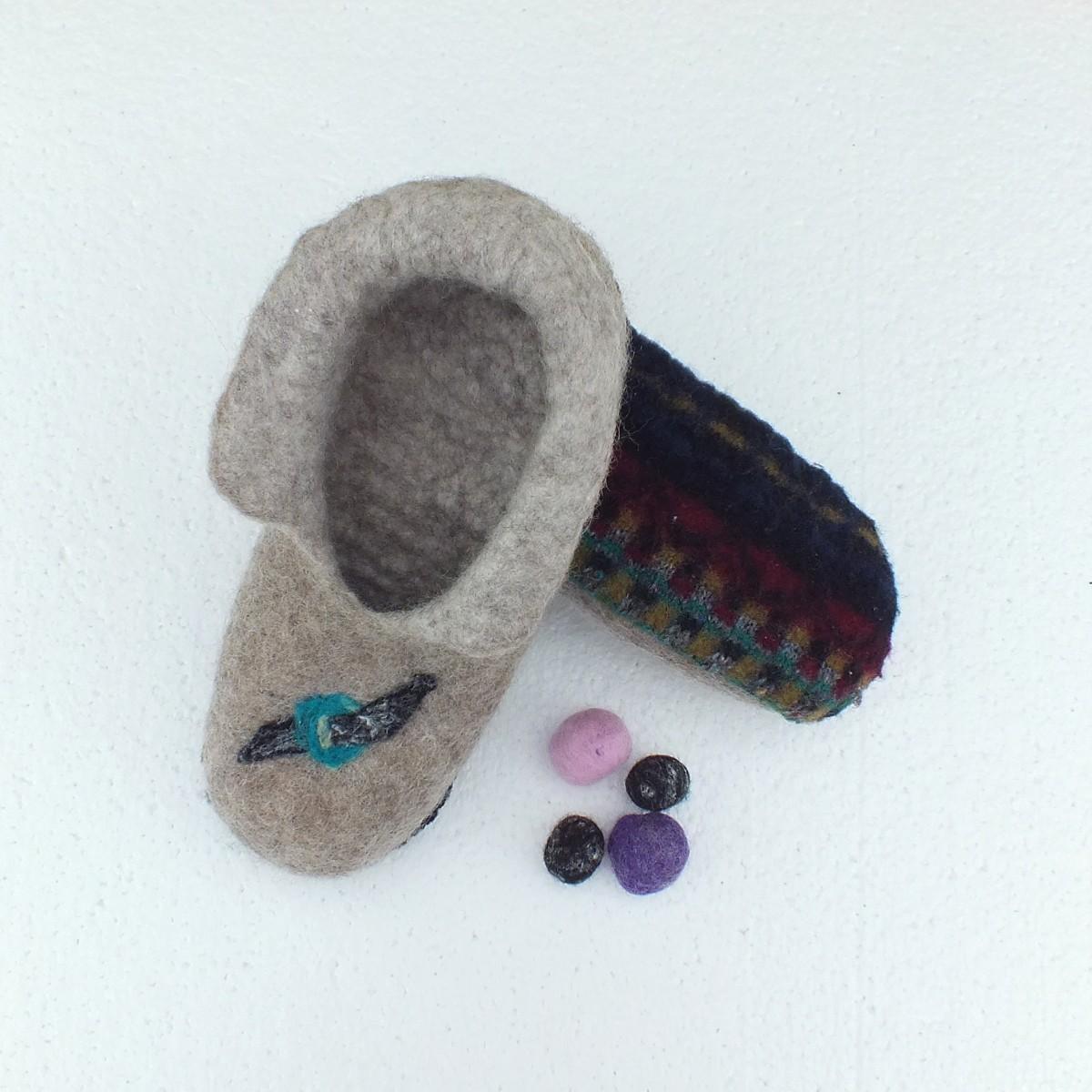 Felted Slippers Felt New Zealand Merino Wool Footware Felt