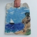 Felt Bag Tote Extra Large Art Bag Felted Seascape with silk lining