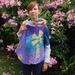 Art Vest Windmill Floral Reversable Felted vest New Zealand wool Nuno Felt Ready to ship
