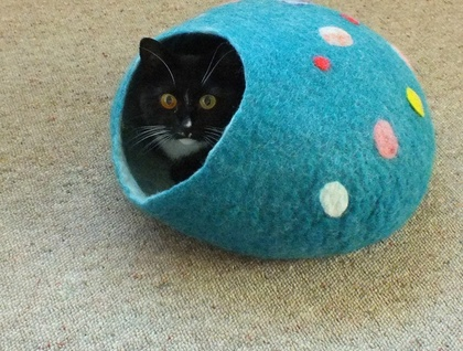 Cat Furniture Cave Medium Size Pure Wool from South Island New Zealand choose the size and colour