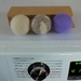 Handfelted laundry dryer balls for colth nappies Set of 3