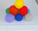 Felted balls for busy moms