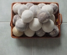 ECO friendly Housecare product - Set of 3 laundry dryer balls from FeltSoapGood