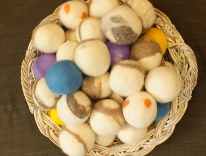 Nappy Laundry Dryer balls natural New Zealand wool Set of 3 unscented balls