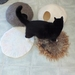 Cat Cave and Matching Mat Medium Size felted natural New Zealand wool Made to order
