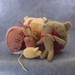 Ready to ship in 3 days Knitted  Bunny or Teddy bonnet and a cuddly Newborn photo prop by FeltSoapGood