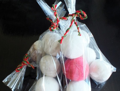 Present for new parents:  Laundry Dryer balls natural New Zealand wool Set of 3 unscented balls