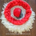 Newborn Christmas photo prop RTS Curly layer, Braid and Bonnet Wool Photo prop Baby photography prop New Zealand wool
