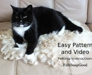 Instructions PDF and video for making needle felted curly cat mat or chair pad (PDF pattern +video link) for beginers design by FeltSoapGood