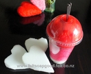 Needle felting KIT for making 3 soft plushy hearts (wool and felting needles)) for beginers design by FeltSoapGood