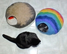 Cat Cave Rainbow Felted seamless New Zealand wool by FeltSoapGood