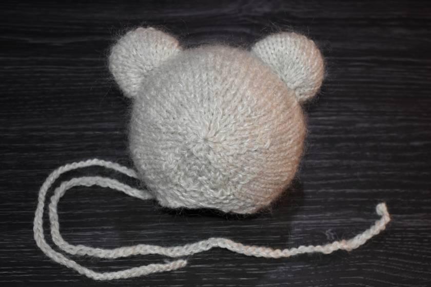 Knitting Pattern Newborn Bonnet Teddy design PDF pattern Beginer level design Pattern #29 by FeltSoapGood