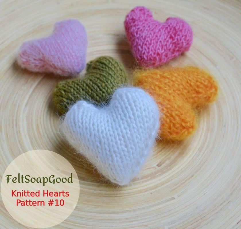 Heart Pattern Beginners Flat Knitting Tutorial By FeltSoapGood Felt Extraordinary Knitted Heart Pattern