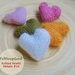 Heart Pattern Beginners flat knitting tutorial by FeltSoapGood