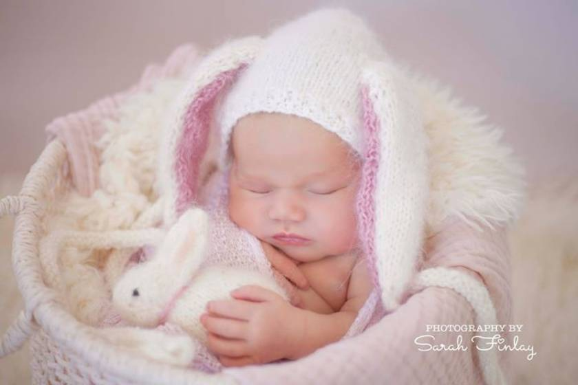 Knitting Pattern Bunny Floppy Ears newborn bonnet by FeltSoapGood