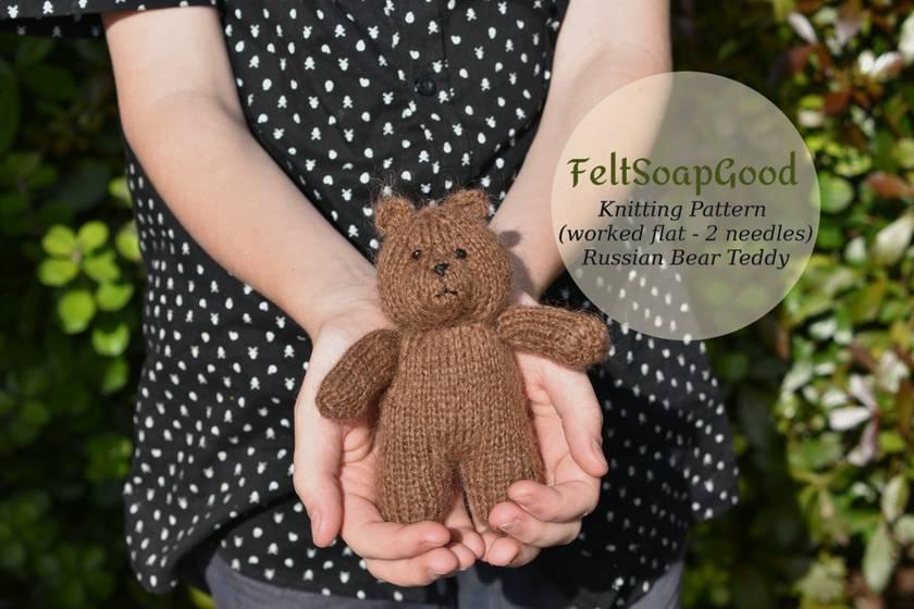 Knitting Pattern Russian Bear PDF pattern by FeltSoapGood