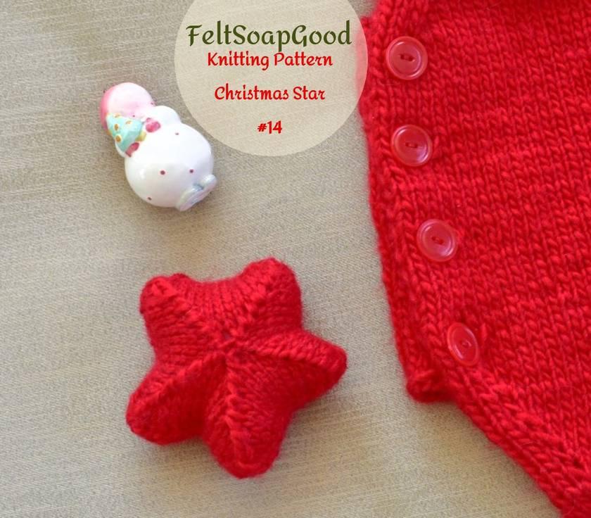Star Pattern Beginners flat knitting tutorial by FeltSoapGood