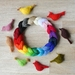 Knitted Birds in bright colours by FeltSoapGood