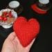 Mother's day Heart Pattern Beginners flat knitting tutorial by FeltSoapGood