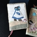 Soft Book Cover Girl in Blue with hand-stitching and applique by FeltSoapGood