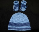 Beanies  with matching booties