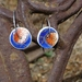 China Chip Earrings - double sided - 2 for 1! (E9)