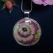 Pink and cream rose .... Pendant (P56)