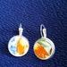 Hot Orange Earrings (E109)