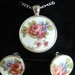 Garden Bouquet Pendant and Clip On Earring Set - (PE132)