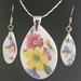 Summer flowers Pendant & Earring set (PE133)