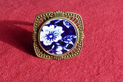Calico Blue Ring (R143)