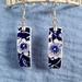 Calico Blue Earrings (E146)