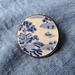 Blue and White Tranquility Brooch (B150)