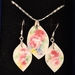 Coming up Roses Pendant & Earring set (EP172)