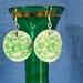 Green Piece Earrings (E176)