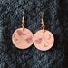Falling Pink Leaves Earrings (E198)