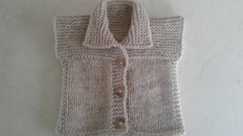 Baby vest-pure NZ wool