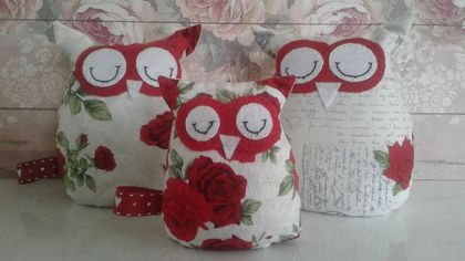 Lavender INFUSED Wheat Bag Owls