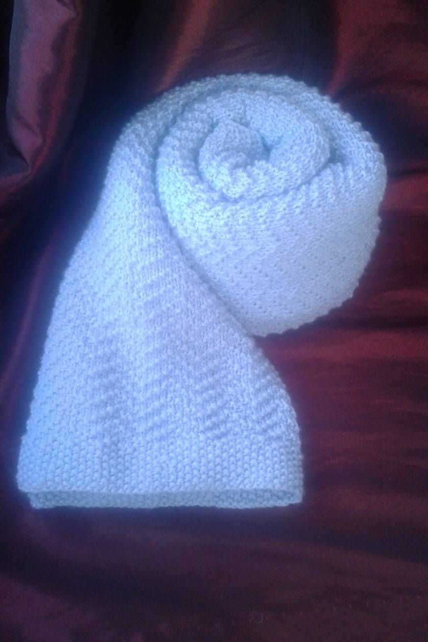 Baby blanket in machine washable merino wool