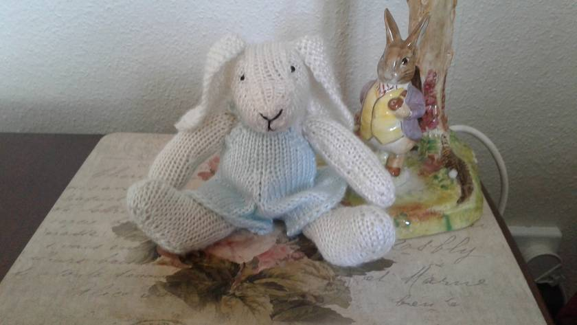 Snowy the well-dressed bunny rabbit