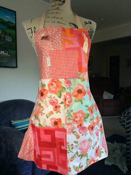 Handmade reversible full apron