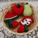Crochet Play Food Fruit Set